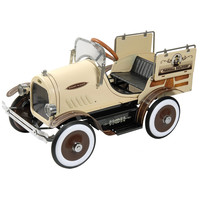 Dexton Deluxe Woody Wagon Roadster Pedal Car - Brown   - DX-20434