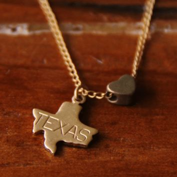 State Love Charm Necklace
