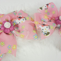 Hello Kitty Hairbows Boutique Pigtail Set