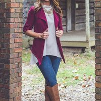 A Night at the Symphony Blazer in Burgundy