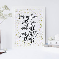 Printable art One direction Quote print,printable quote,wall art,golden stars print,prints,black and gold print,fashion print,one direction