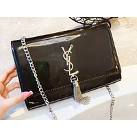 YSL Saint Laurent Fashion Joker Chain Fringe Hand Shoulder Bag Messenger Bag