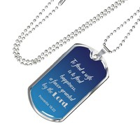 Christian Bible Verse Personalized Necklace Wife Gift