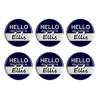Ellis Hello My Name Is Plastic Resin Button Set of 6