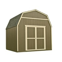 Shop Heartland Rainier Gambrel Engineered Wood Storage Shed (Common: 10-ft x 10-ft; Interior Dimensions: 10-ft x 9.71-ft) at Lowes.com