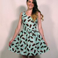 Mint Ice Cream Sandwich Party Dress MADE TO ORDER