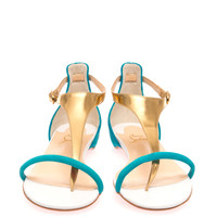 Athena leather and suede sandals