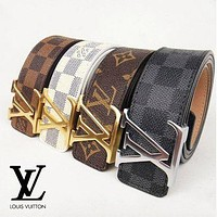 LV Louis Vuitton Classic Smooth Buckle Belt