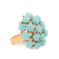 Bouquet Of Roses Ring - Mint