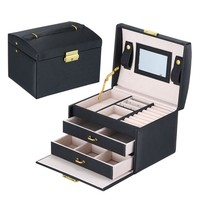 Three Layer Jewelry Boxes Carrying Cases Women Jewellery Container Birthday Gifts Makeup Case Jewelry Organizer