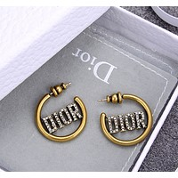 Dior shining rhinestone earrings