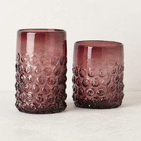 Arrondi Tumbler by Anthropologie Pink Double Old Fashion Glasses