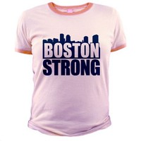 Boston Strong Blue T-Shirt on CafePress.com