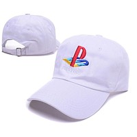 White Pretty Boy Playstation Funny Baseball Cap Hat Hip Hop Alien Dad Hat Respect Strap back Fishing Daddy Cap Adjustable Strap Back Trucker Bone