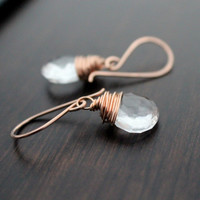 Crystal Quartz Dangle Earrings - Vow