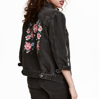 Printed Denim Jacket - from H&M