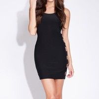 One Piece Sexy Women Black Evening Party Dress  = 5988234113