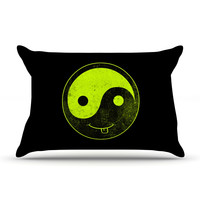 "Frederic Levy-Hadida ""Bad Ass Ying Yang"" Pillow Case"