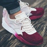 Bunchsun Puma Ronnie Fieg x Puma R698 'Sakura' cherry blossom KITH men and women shoes