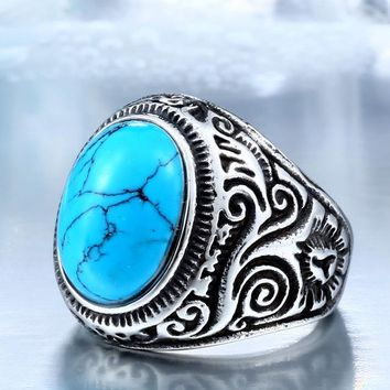 Natural Oval Opal Stone Ring