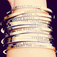 Follow Your Bliss bracelet from MantraBand