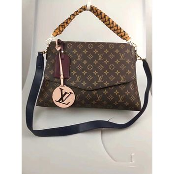 LV Louis Vuitton OFFICE QUALITY MONOGRAM CANVAS BEAUBOURG INCLINED SHOULDER BAG