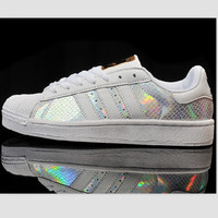 """""""Adidas"""" Fashion Shell-toe Flats Sneakers Sport Shoes Print Colorful camouflage"""