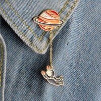 ac spbest Shuangshuo 2017 Fashion Satellite Pins and Brooches for Women Big Broches Jewelry Fashion Enamel  Pin badge