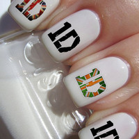One Direction 1D logo Nail Decals