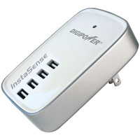 Digipower 4.2-amp 4-port Usb Travel Wall Charger With Instasense