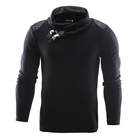 Men 2018 New Arrival Casual Pullover Men Autumn Turtle Neck Patchwork Quality Knitted Brand Male Sweaters Plus Size