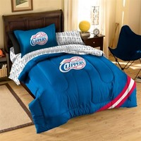 Los Angeles Clippers Royal Blue Five-Piece Twin Bedding Set