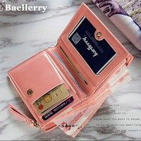 Wallet Women Small Purse Card Slot Zipper Coin Pocket Wallet Female Purse High Quality Leather Wallet Pu big capacity New Design