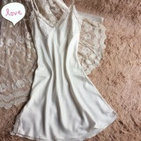 Spaghetti Strap Dress Lace Lovely Princess Sleepwear [8331976899]