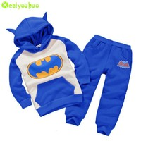 Batman Dark Knight gift Christmas KEAIYOUHUO Toddler Boys Clothing Set 2017 Winter Girls Clothes Batman Hoodies+Pant Kids Sport Suit For Boys Children Clothes Set AT_71_6
