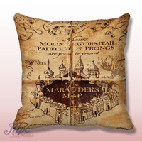 Harry Potter Marauder Map Throw Pillow Cover – MPCTeeHouse