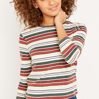 Urban Outfitters Contrast Striped Ringer Top - Urban Outfitters