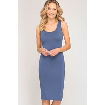 Solid Tank Dress, Two Colors