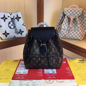 LV Louis Vuitton MONOGRAM CANVAS SMALL Montsouris BACKPACK BAG