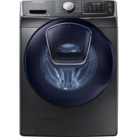Samsung - 5.0 Cu. Ft. 14-Cycle Addwash Front-Loading Washer - Black Stainless