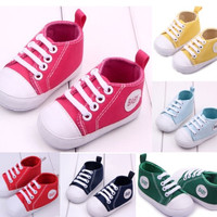 Boy&Girls Lace-up Shoes Baby First Walkers Soft Sole Skidproof