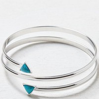 AEO Women's Turquoise Arm Cuff (Silver)