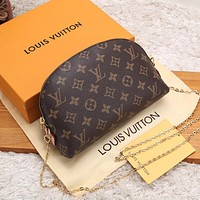 Hipgirls Louis Vuitton LV New Sale Classic Printed Letter Chain Diagonal Crossbody Bag