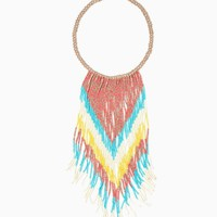 Seed Bead Rain Necklace | Fashion Jewelry – Tropical Escape | charming charlie