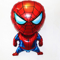 Spiderman Balloon Baby Toy Children's birthday Party scene decorated and furnished Spiderman Aluminum Foil Balloons