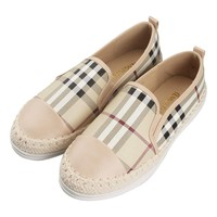Tengyu Leather Slip On Flat for Womens Fashion Sneakers Plaid Loafers Espadrilles Comfort Driving Holiday Shoes