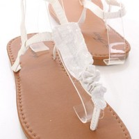 White Faux Leather Sequin Ruffle T Strap Sandals @ Amiclubwear Sandals Shoes online store sale:Sandals,Thong Sandals,Women's Sandals,Dress Sandals,Summer Shoes,Spring Shoes,Wooden Sandal,Ladies Sandals,Girls Sandals,Evening Dress Shoes,Casual Sandals,Keen
