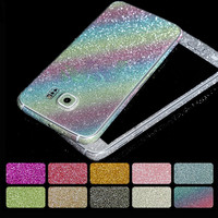 Color Foil Glitter Sticker For Samsung Galaxy A3 A5 A7 J3 J5 J7 2016 G530 case Diamond Bling Decals Protector for S5 S6 S7 Edge
