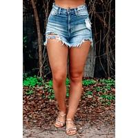 Don't Think About It Shorts: Denim