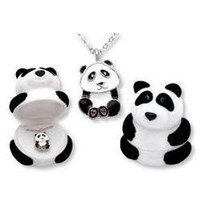 Panda Bear Pendant Necklace in Figural Gift Box